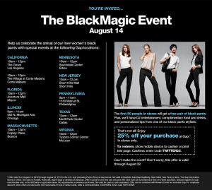 GAP - Black Magic Event