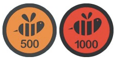 Super Duper Swarm badge e Epic Swarm badge
