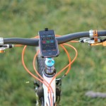 MotionX GPS - iPhone installato su una mountain bike